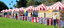 Red and white carnival tents